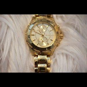 Women's Gold Tone Michael Kors Watch